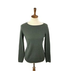 Tweeds Cashmere Sweater Size M Olive Ribbed